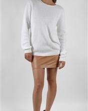 Acne rakel genser i hvit str s, brukt kun noen få ganger