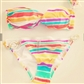 Stripete Victoria Secret bikini selges ubrukt. Str small. 